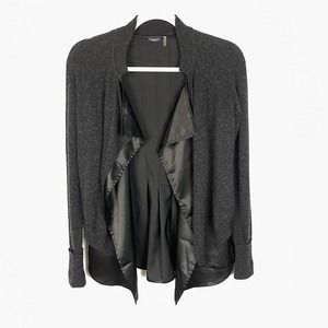 Magaschoni Gray 100% Cashmere Open Cardigan XS
